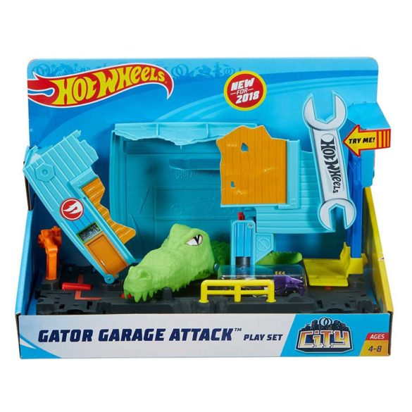 Hot Wheels City Nemesis Garaj cu crocodili 6