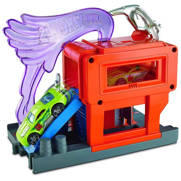 Hot Wheels City Statia de incarcare Benzinaria 1