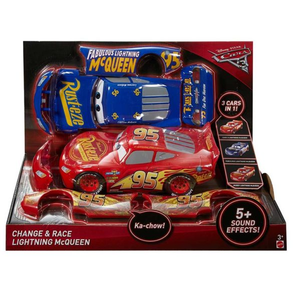 Masina Mattel Fulger McQueen 3 in 1 Charge and Race 10