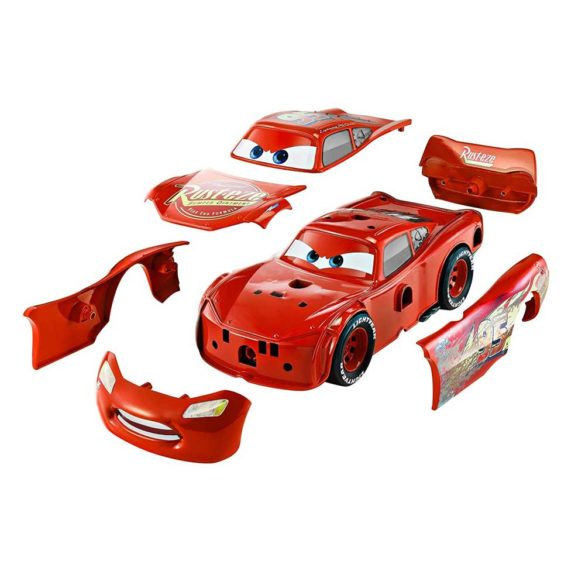 Masina Mattel Fulger McQueen 3 in 1 Charge and Race 2