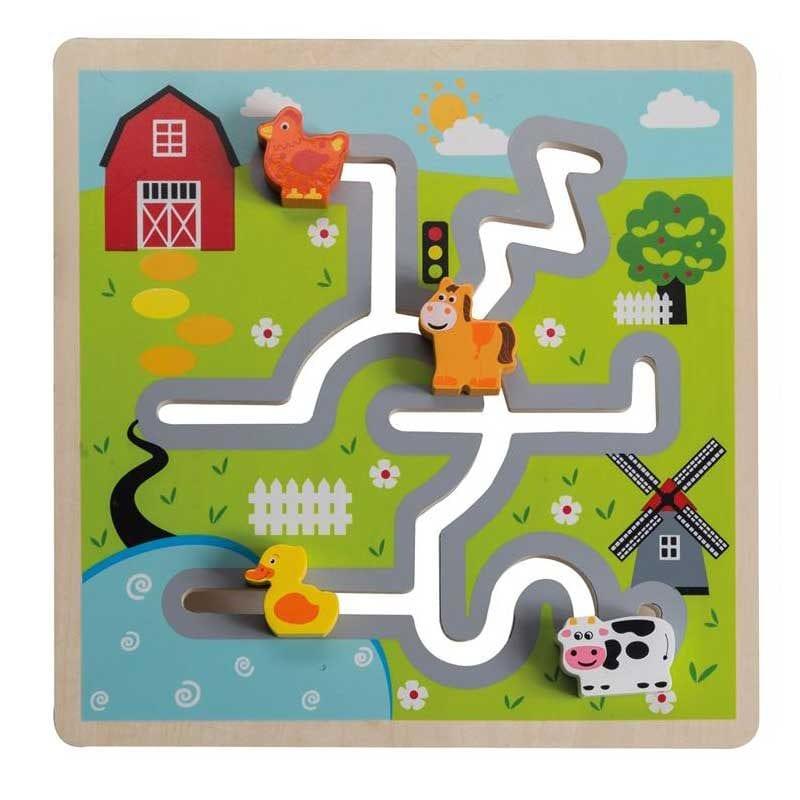 Puzzle Labirint din Lemn Ferma