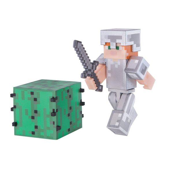 Figurina Minecraft Seria 3 Alex In Iron Armour 1