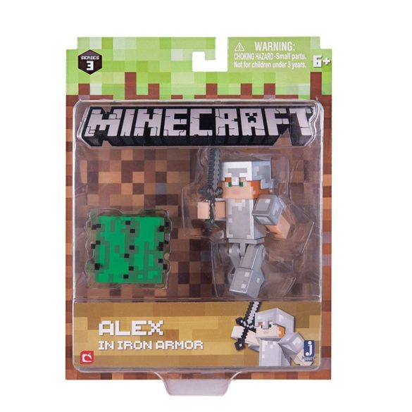 Figurina Minecraft Seria 3 Alex In Iron Armour 3