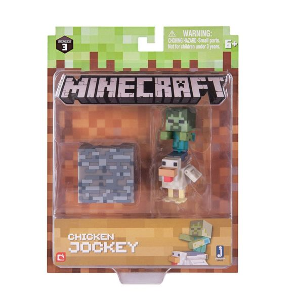 Figurina Minecraft Seria 3 Chicken Jockey 2