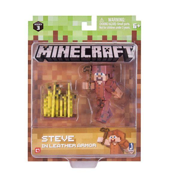 Figurina Minecraft Seria 3 Steve In Leather Armour 3