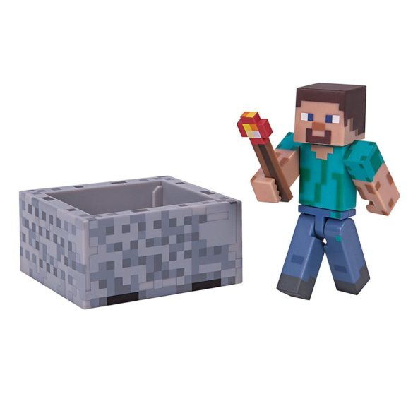 Figurina Minecraft Seria 3 Steve with Minecart 1