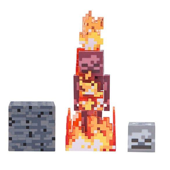 Figurina Minecraft Seria 4 Skeleton on Fire 2