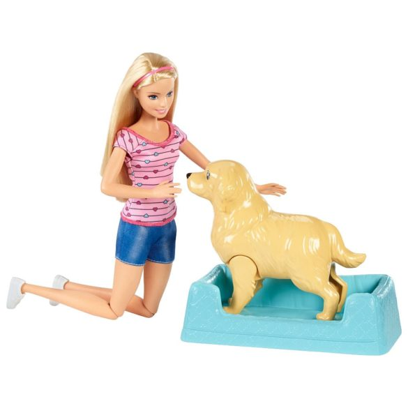 Papusa Barbie si Setul de Joaca Catelusi Nou Nascuti 2