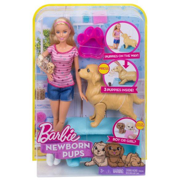 Papusa Barbie si Setul de Joaca Catelusi Nou Nascuti 9