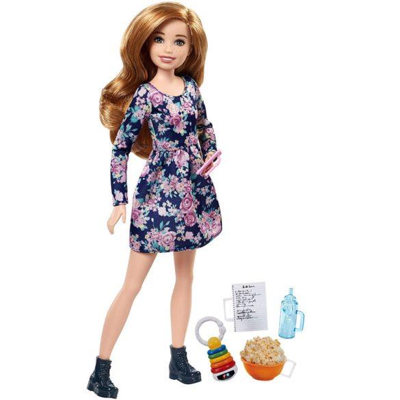 Barbie Babysitter Papusa cu Pistrui si Rochita Inflorata 1