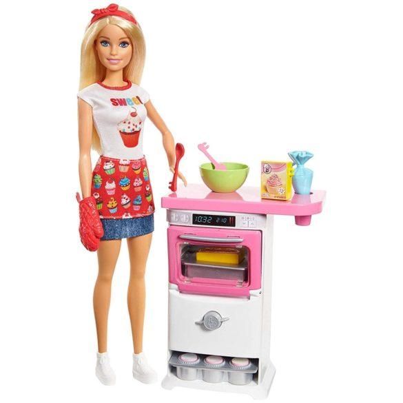 Barbie Papusa Cofetar si Setul de Mobilier 1