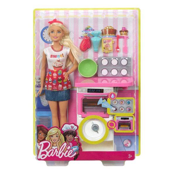 Barbie Papusa Cofetar si Setul de Mobilier 10