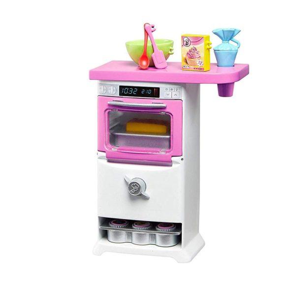 Barbie Papusa Cofetar si Setul de Mobilier 3