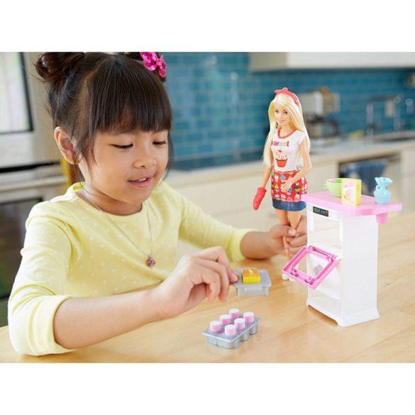 Barbie Papusa Cofetar si Setul de Mobilier 7