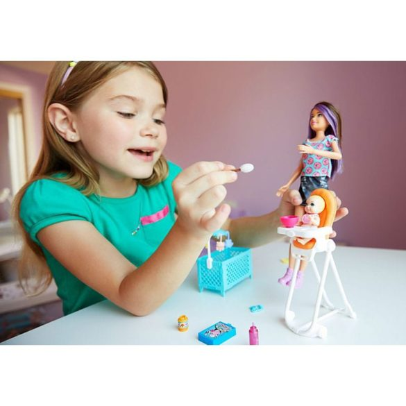 Barbie si Familia Setul de Joaca cu Bebelus Blond 9