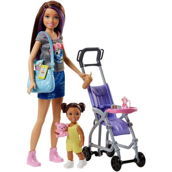 Barbie si Familia Setul de Joaca cu Bebelus si Carucior 1