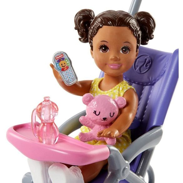 Barbie si Familia Setul de Joaca cu Bebelus si Carucior 4