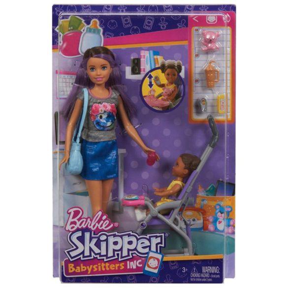 Barbie si Familia Setul de Joaca cu Bebelus si Carucior