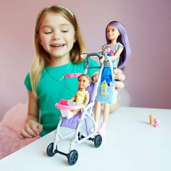 Barbie si Familia Setul de Joaca cu Bebelus si Carucior 8