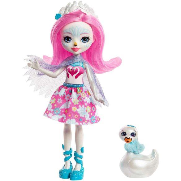 Enchantimals Papusa Saffi Swan si Figurina Lebada 1