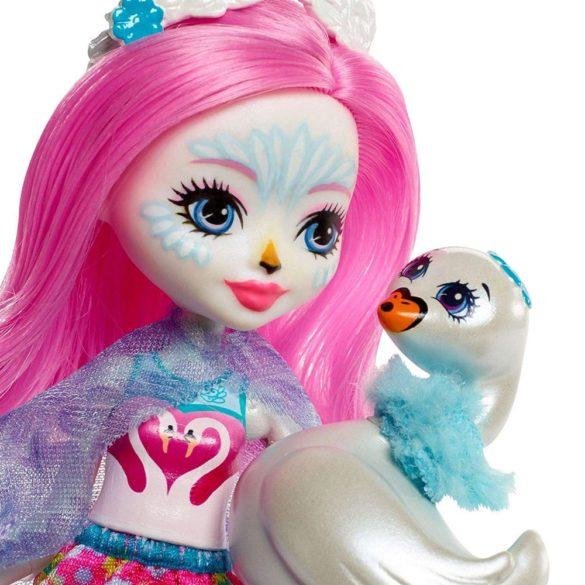 Enchantimals Papusa Saffi Swan si Figurina Lebada 3