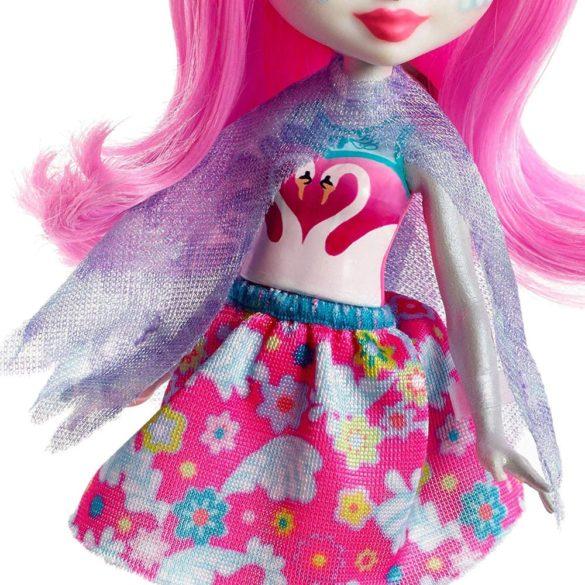 Enchantimals Papusa Saffi Swan si Figurina Lebada 5