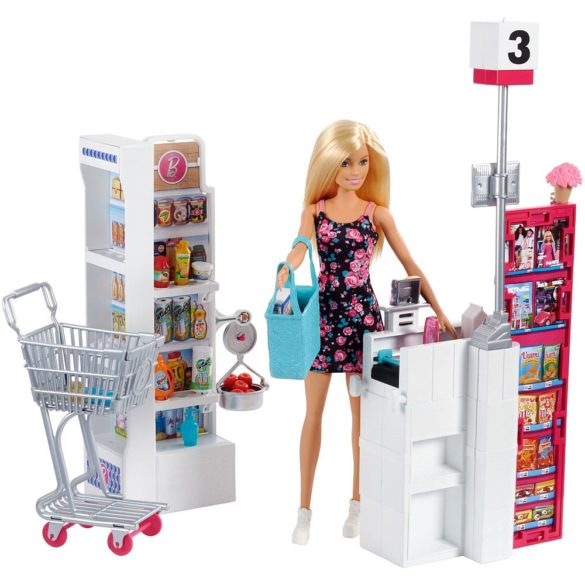 Set de joaca supermarket Barbie FRP01 1