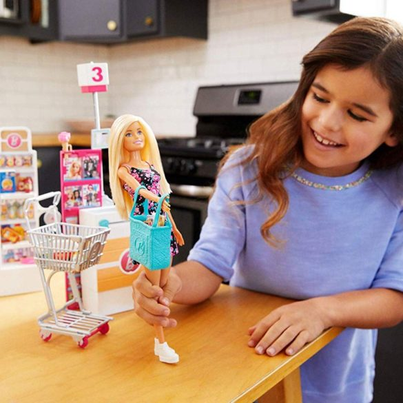 Set de joaca supermarket Barbie FRP01 7