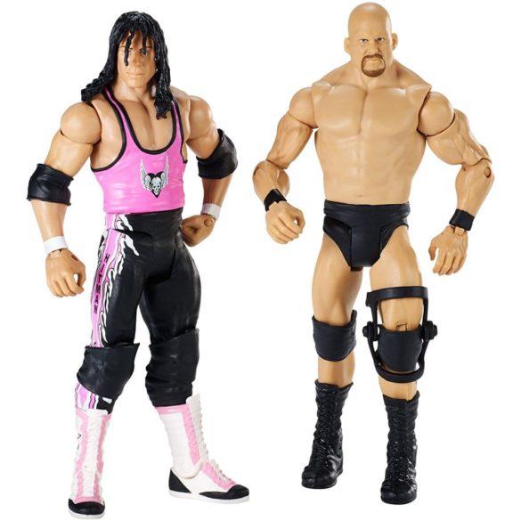 WWE Wrestlemania Pachet Figurine Stone Cold vs Bret Hart 1