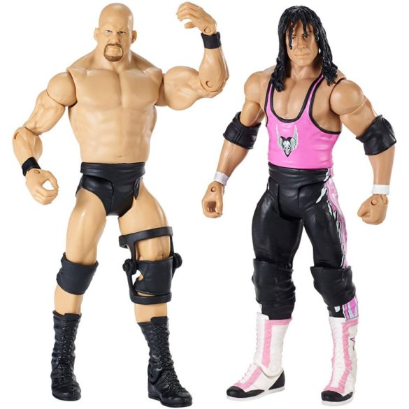 WWE Wrestlemania Pachet Figurine Stone Cold vs Bret Hart 2