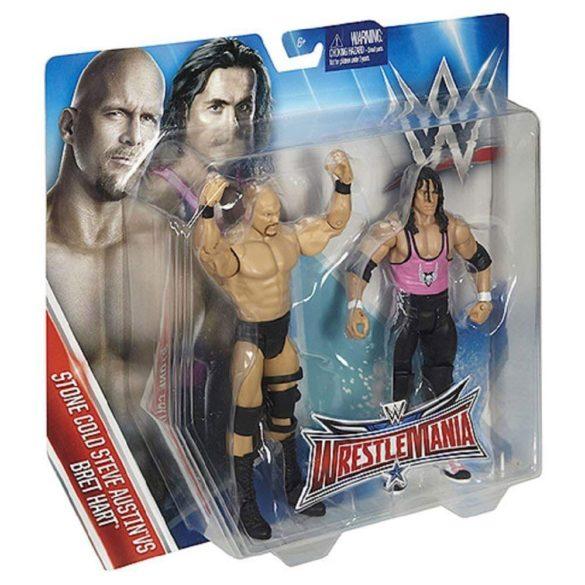 WWE Wrestlemania Pachet Figurine Stone Cold vs Bret Hart 5