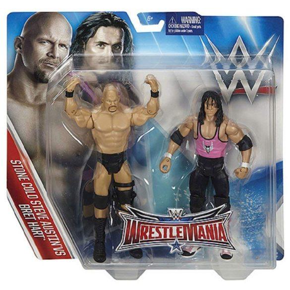 WWE Wrestlemania Pachet Figurine Stone Cold vs Bret Hart 6