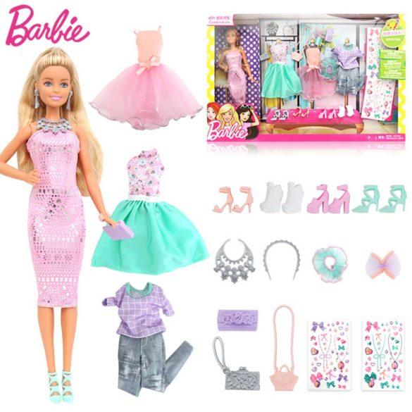Papusa Barbie si Setul de Tinute 1
