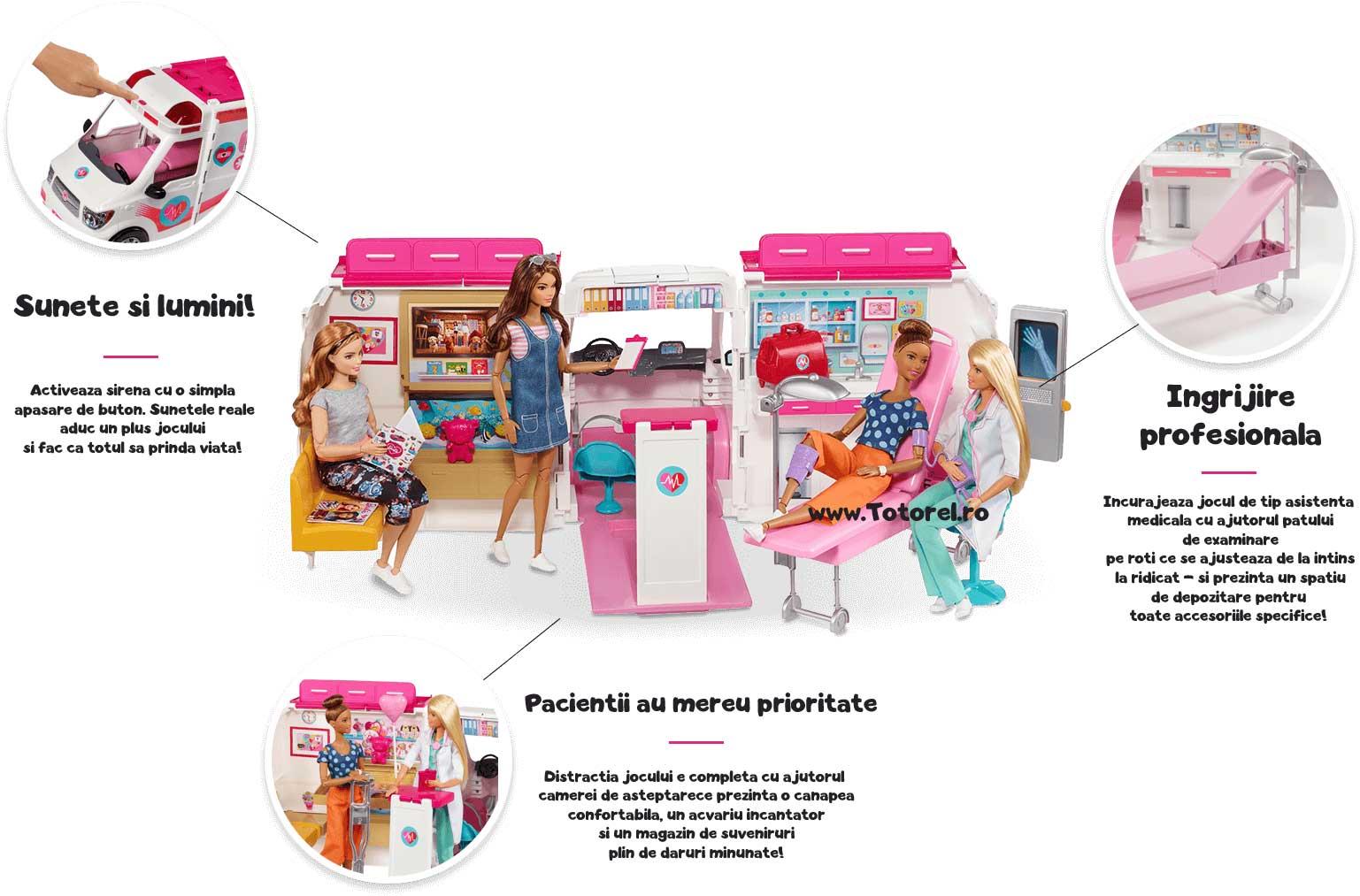 Ambulanta Barbie Masina de Ajutor