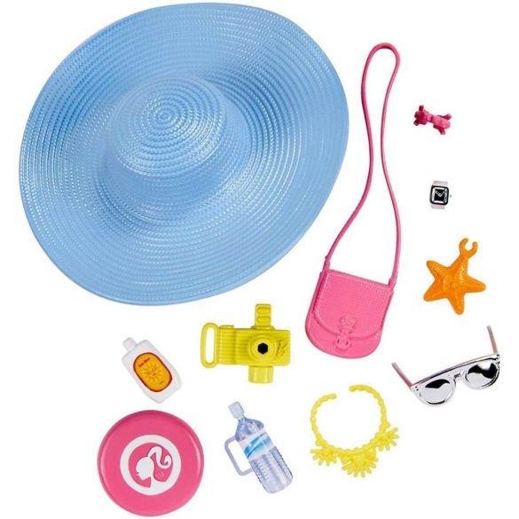 Barbie Accesorii pentru Papusa Pachetul cu Palarie de Plaja 1