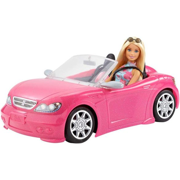 Pachet Papusa Barbie si Masina Decapotabila 2