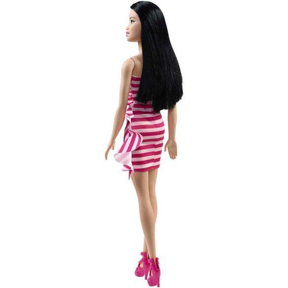 Papusa Barbie Glitz Rochita cu Dungi Roz Asiatica 2