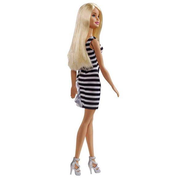 Papusa Barbie Glitz Rochita cu Dungi in Alb si Negru 2