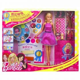Set de Joaca Barbie Pink Envelope, Fustita Roz