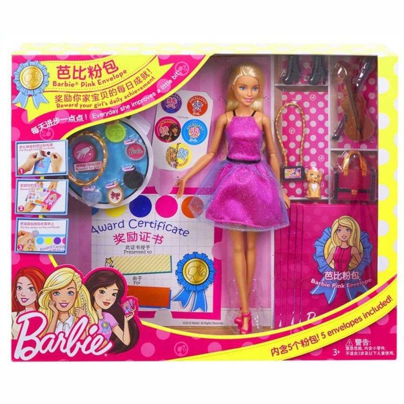 Set de Joaca Barbie Pink Envelope, Fustita Roz