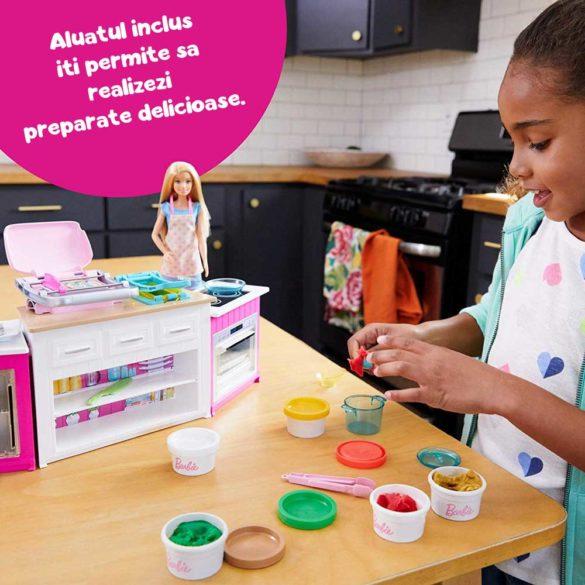 Set de joaca Mattel Barbie Bucataria utilata papusa inclusa 2