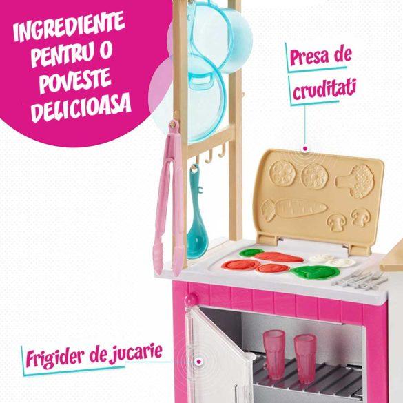 Set de joaca Mattel Barbie Bucataria utilata papusa inclusa 3