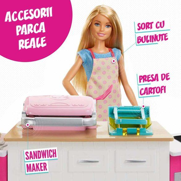 Set de joaca Mattel Barbie Bucataria utilata papusa inclusa 4