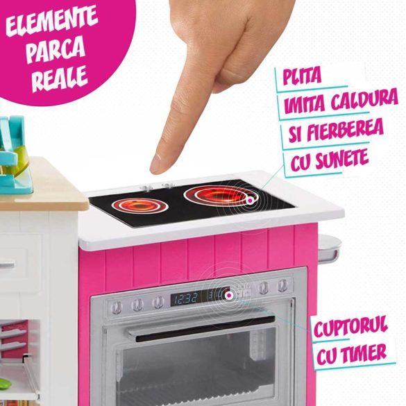 Set de joaca Mattel Barbie Bucataria utilata papusa inclusa 5