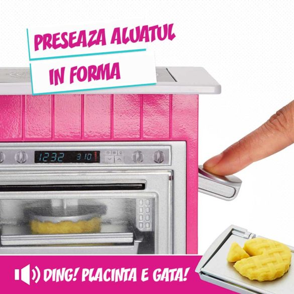 Set de joaca Mattel Barbie Bucataria utilata papusa inclusa 9