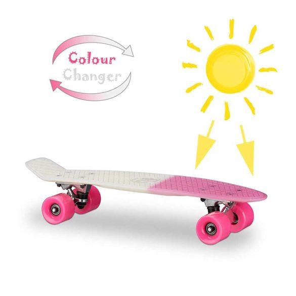 Skateboard 22 inch Placa Alba Roti Roz ABEC 7 8