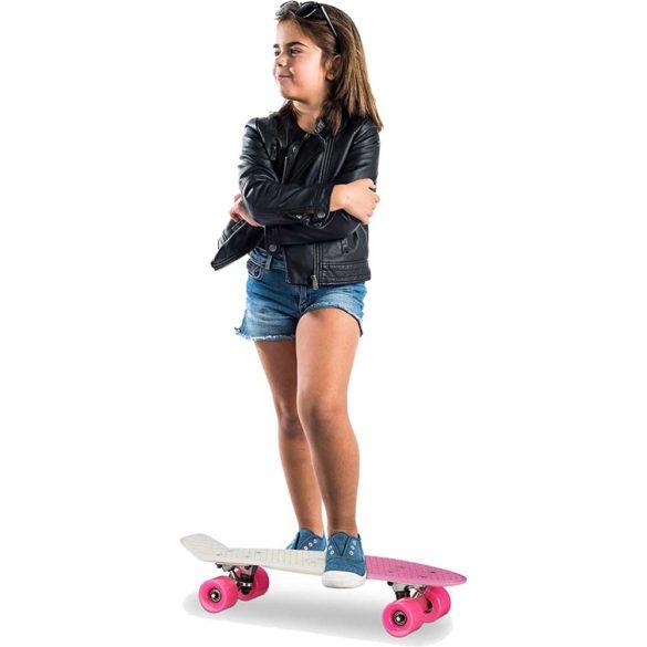 Skateboard 22 inch Placa Alba Roti Roz ABEC 7 9