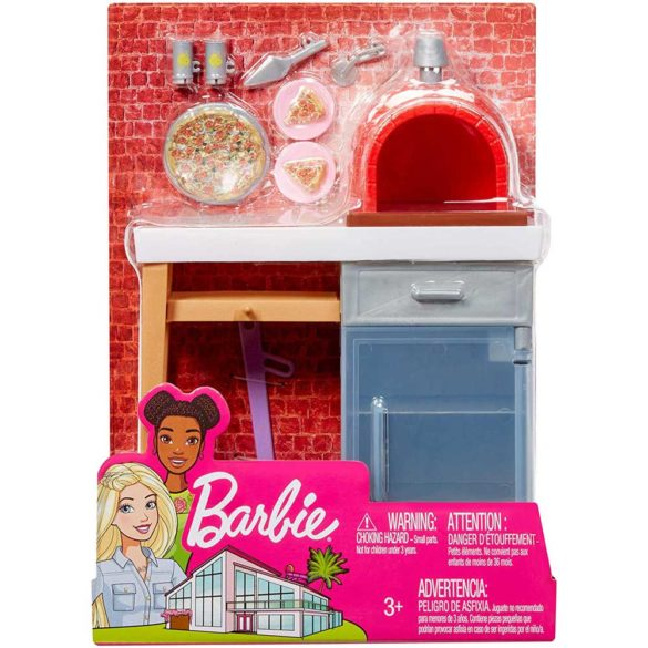 Accesorii Barbie Mobilier Gratarul de Pizza 7