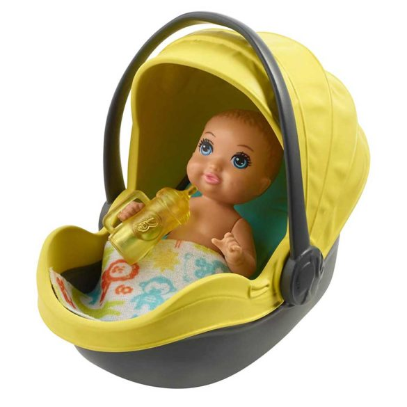 Barbie Babysitters Set de Joaca Carucior Galben 3