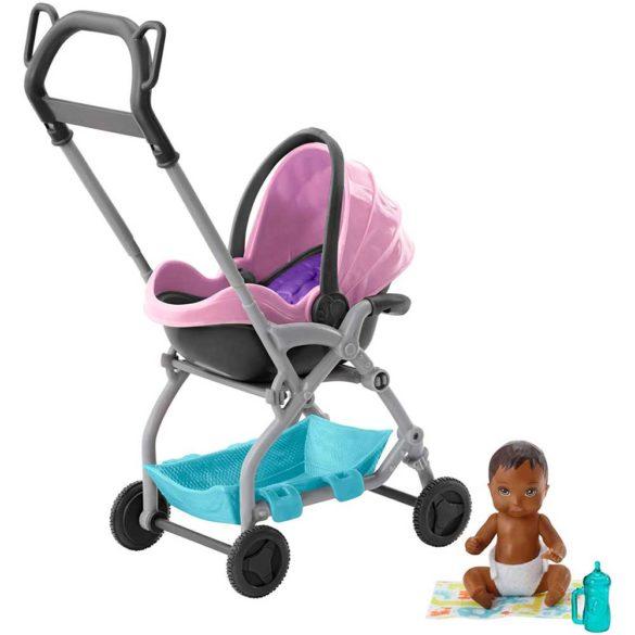 Barbie Babysitters Set de Joaca Carucior roz 1